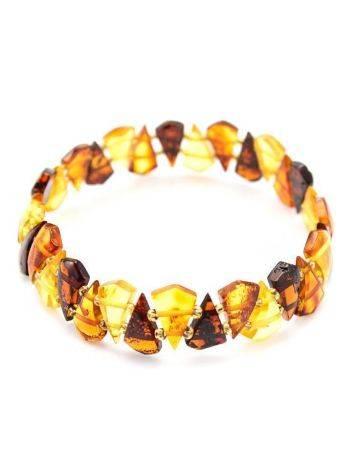 Multicolor Amber Elastic Bracelet, image , picture 3