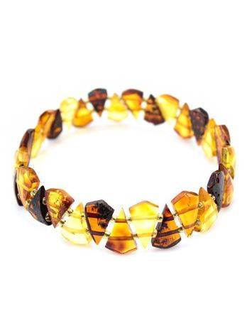 Multicolor Amber Elastic Bracelet, image , picture 4