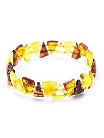 Multicolor Amber Elastic Bracelet, image , picture 2