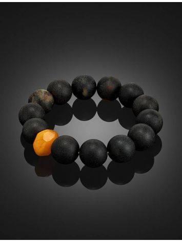 Bold Dark Amber Beaded Bracelet The Cuba, image , picture 2