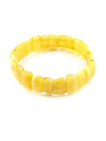 Genuine Honey Amber Stretch Bracelet, image , picture 2
