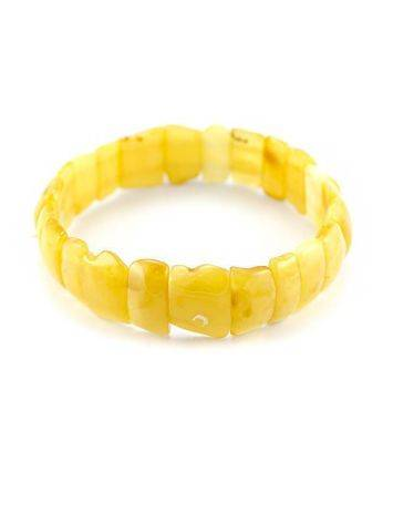 Genuine Honey Amber Stretch Bracelet, image , picture 3