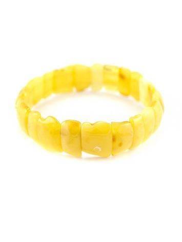 Genuine Honey Amber Stretch Bracelet, image , picture 5