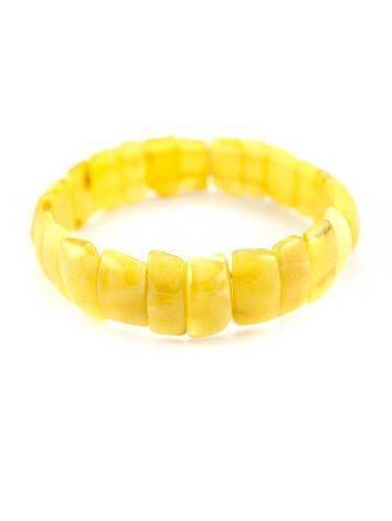 Genuine Honey Amber Stretch Bracelet, image , picture 6