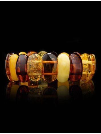 Multicolor Amber Stretch Bracelet, image , picture 2