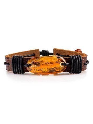 Cognac Amber Leather Bracelet The Copacabana, image , picture 3