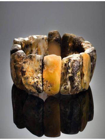 Dark Hued Amber Stretch Bracelet The Volcano, image , picture 2