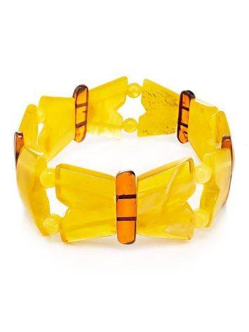 Multicolor Amber Stretch Bracelet The Butterfly, image
