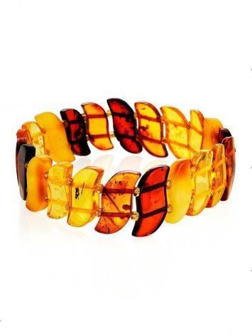 Multicolor Amber Flat Beaded Bracelet, image