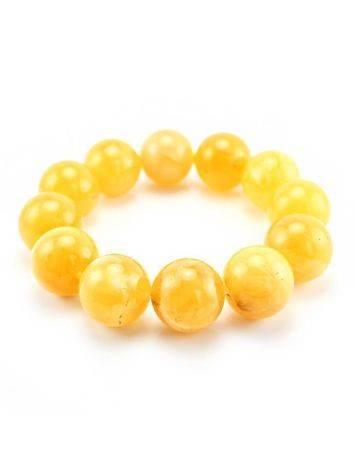 Butterscotch Amber Ball Beaded Bracelet, image