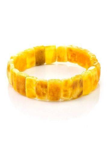 Vintage Style Amber Stretch Bracelet, image , picture 3