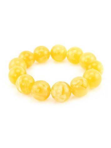 Bold Amber Beaded Bracelet, image