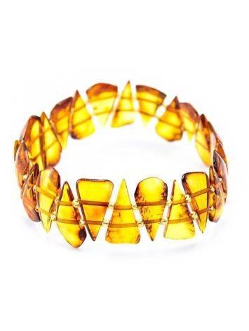 Cognac Amber Flat Beaded Bracelet, image
