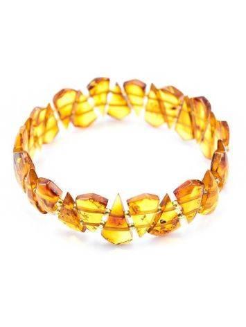 Luminous Amber Flat Beaded Bracelet, image