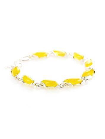 Silver Amber Link Bracelet, image