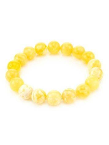 Honey Amber Ball Beaded Bracelet, image