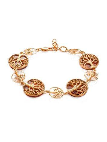 The Tree Of Life Bracelet Made in Amber And Gold-Plated Silver, image