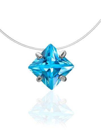 Light Blue Crystal Invisible Necklace The Aurora, image