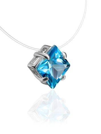 Light Blue Crystal Invisible Necklace The Aurora, image , picture 3