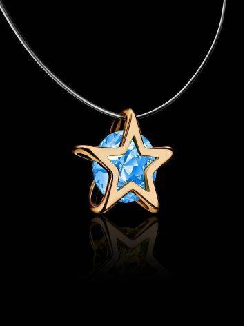 Invisible Necklace With star Shaped Pendant The Aurora, Length: 40, image , picture 2