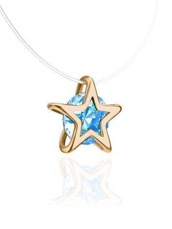 Invisible Necklace With star Shaped Pendant The Aurora, Length: 40, image , picture 3