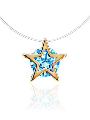Invisible Necklace With star Shaped Pendant The Aurora, Length: 40, image
