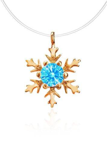 Invisible Necklace With Blue Crystal Pendant The Aurora, Length: 38, image