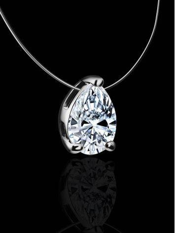 Invisible Necklace With White Crystal Pendant The Aurora, image , picture 2