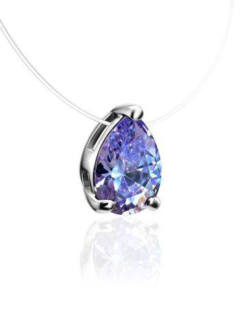 Teardrop Crystal Invisible Necklace The Aurora, image , picture 3