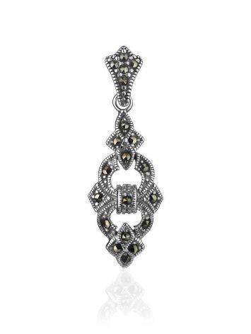 Sterling Silver Pendant With Bright Marcasites The Lace, image