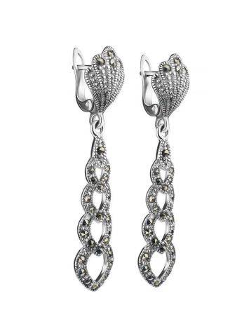 Sterling Silver Dangles With Black Marcasites The Lace, image , picture 3
