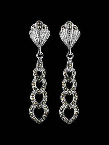 Sterling Silver Dangles With Black Marcasites The Lace, image , picture 2