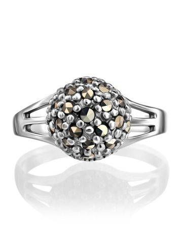 Sterling Silver Marcasite Ring The Lace, Ring Size: 6.5 / 17, image , picture 3