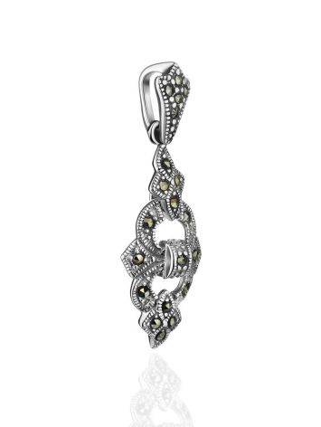 Sterling Silver Pendant With Bright Marcasites The Lace, image , picture 3