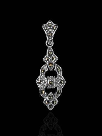 Sterling Silver Pendant With Bright Marcasites The Lace, image , picture 2