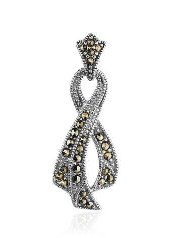 Twisted Silver Pendant With Marcasites The Lace, image