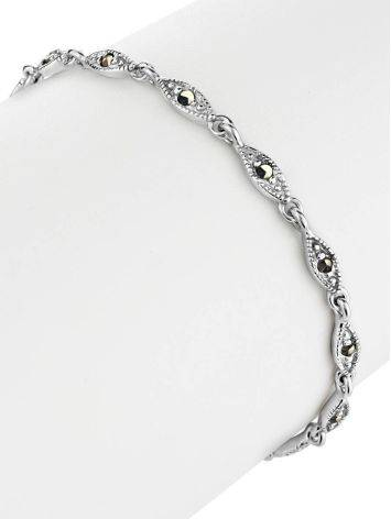 Silver Link Bracelet With Marcasites The Lace, image , picture 3