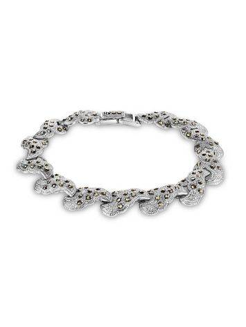 Silver Link Bracelet With Marcasites The Lace, image