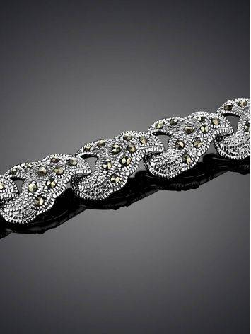 Silver Link Bracelet With Marcasites The Lace, image , picture 2