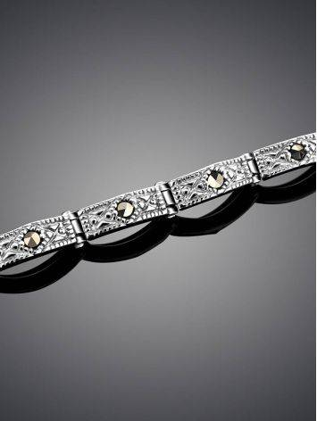Sterling Silver Link Bracelet With Marcasites The Lace, image , picture 2