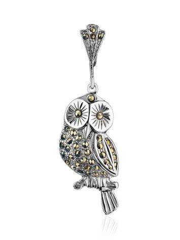 Silver Owl Pendant With Marcasites The Lace, image