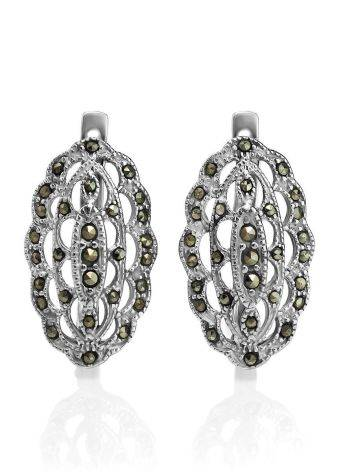 Sterling Silver Earrings With Marcasites The Lace, image , picture 3
