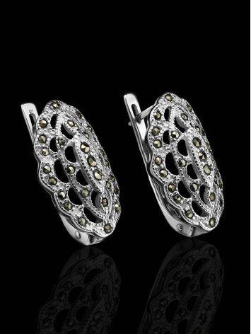 Sterling Silver Earrings With Marcasites The Lace, image , picture 2