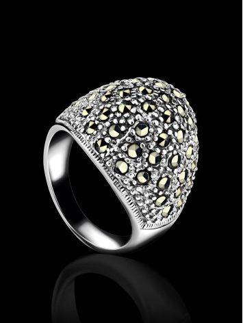Marcasite Encrusted Ring In Sterling Silver The Lace, Ring Size: 8 / 18, image , picture 2