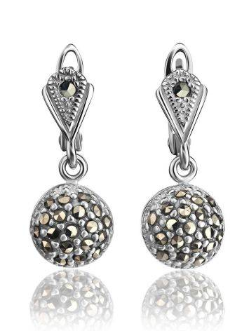 Sterling Silver Dangle Earrings With Marcasites The Lace, image , picture 3