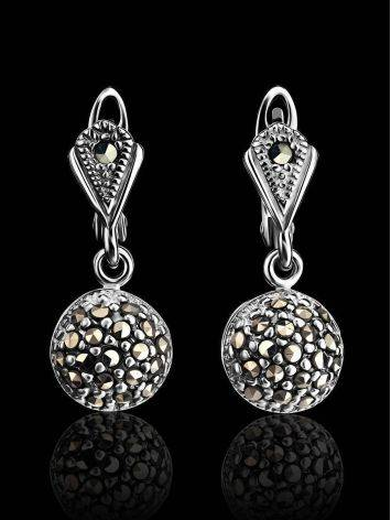 Sterling Silver Dangle Earrings With Marcasites The Lace, image , picture 2