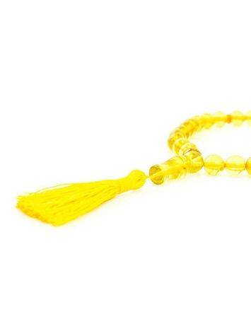 33 Amber Islamic Prayer Beads With Tassel, image , picture 4