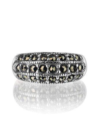 Sterling Silver Band Ring With Marcasites The Lace, Ring Size: 5.5 / 16, image , picture 3