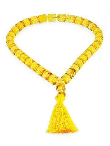 Lemon Amber Islamic Prayer Beads With Tassel, image , picture 3