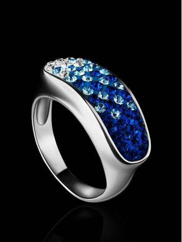 Two Toned Crystal Ring The Eclat, Ring Size: 6.5 / 17, image , picture 2